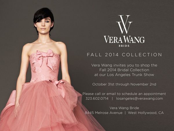 brides-to-be: vera wang trunk show starts tomorrow…